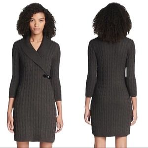 Calvin Klein • Gray Cable Knit Sweater Dress • M
